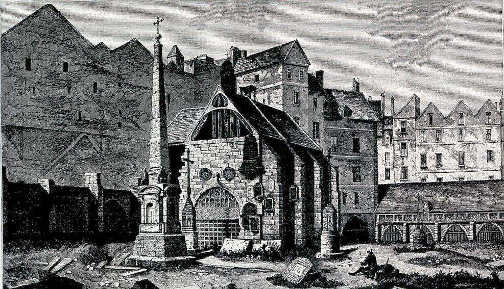 Cimetière des Innocents en 1785